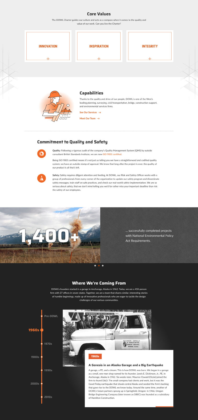 DOWL Engineering - Website Redesign - web company