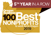 Oregon Business 100 Best Nonprofits to work for in Oregon 2019 logo