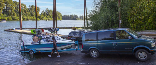Boat Launch at Rogers Landing in Newberg - Photo by Ron Miller